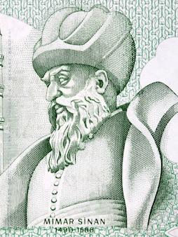 Mimar sinan portret ze starych tureckich pieniędzy