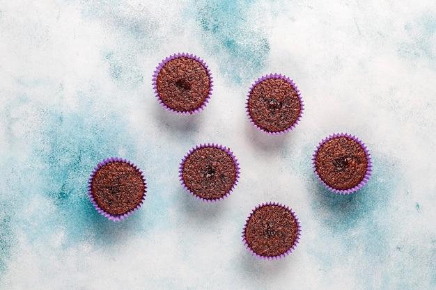 Mini babeczki z sufletem czekoladowym