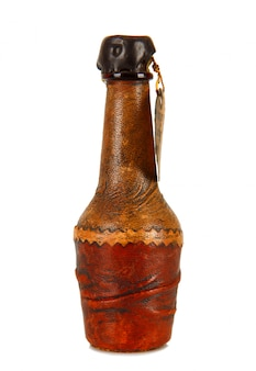 Mini butelka pokryta skórą