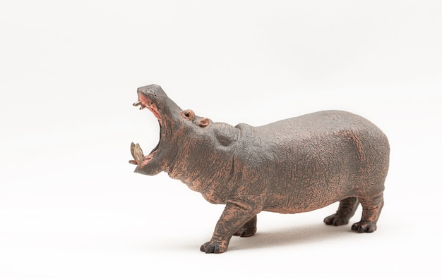 Miniaturowa figurka zabawkowego hipopotama