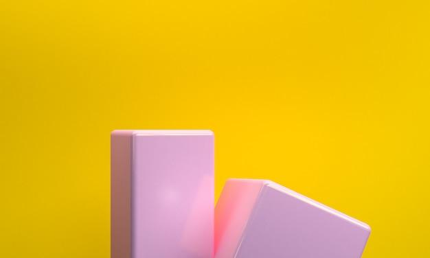 Minimalistyczna abstrakcjonistyczna kształt scena, 3d rendering.