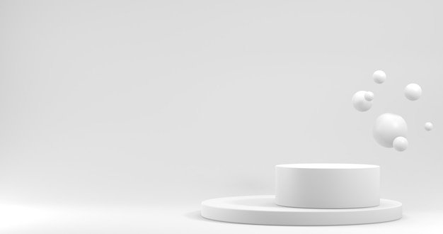 Minimalistyczna gablota z pustą przestrzenią. puste podium do wyświetlania produktu. renderowanie 3d.