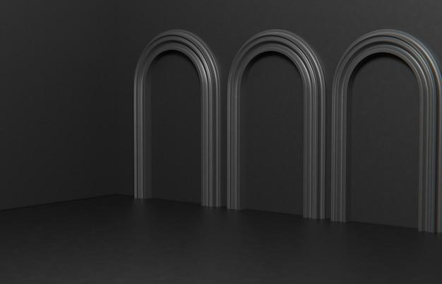 Minimalistyczna kompozycja sceny do prezentacji produktu