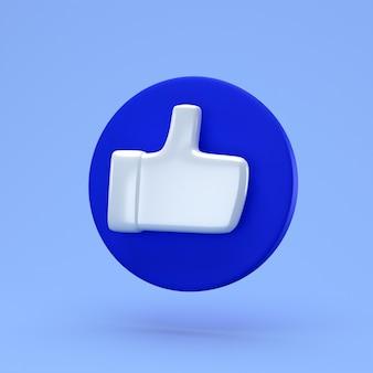 Minimalistyczna koncepcja społeczna. renderowania 3d. jak ikona na niebieskim kółku
