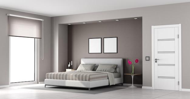 Minimalistyczna sypialnia główna
