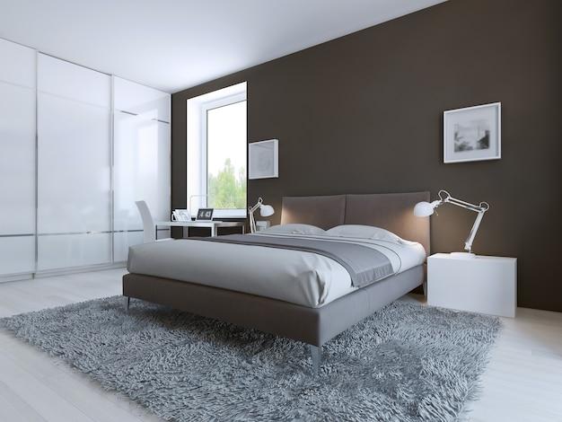 Minimalistyczna sypialnia na dobry wypoczynek