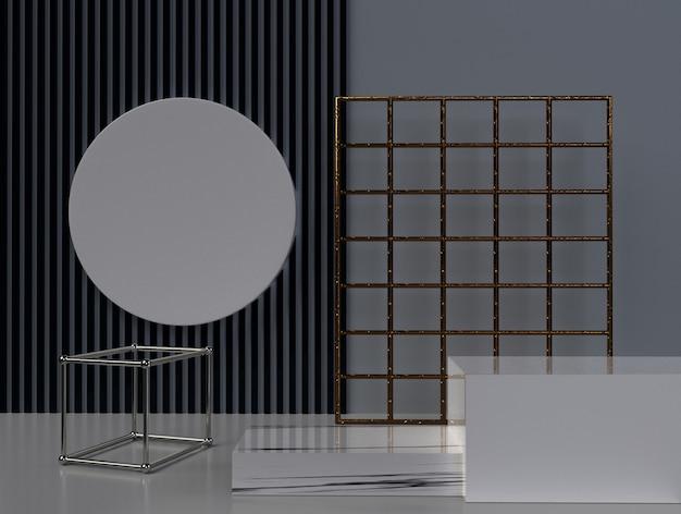 Minimalistyczne 3d renderowania abstrakcyjny kształt geometryczny.