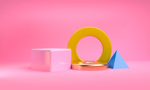 Minimalistyczne abstrakcyjne figury geometryczne tło
