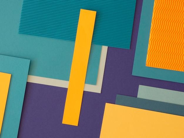 Minimalistyczne abstrakcyjne kształty geometryczne z papieru