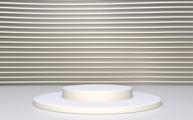 Minimalistyczne białe podium do wyświetlania produktów w tle abtsract
