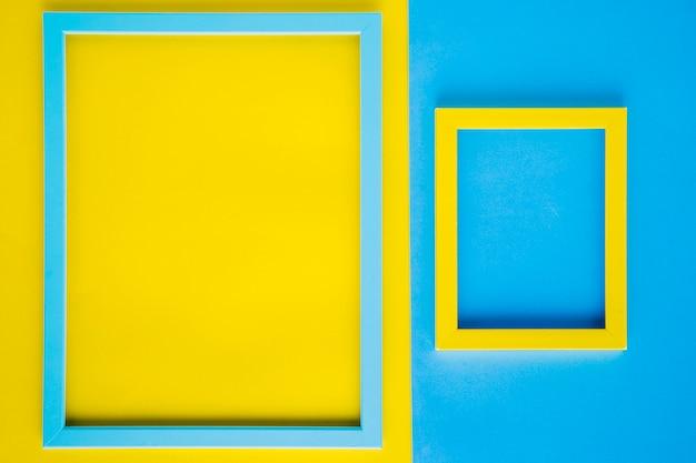 Minimalistyczne dekoracyjne ramki z pustą przestrzenią