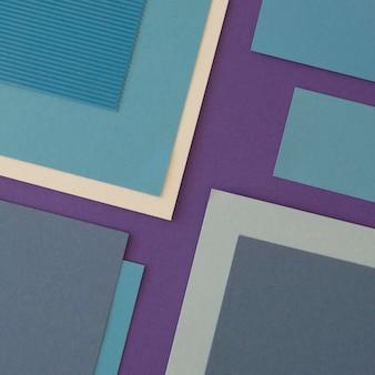 Minimalistyczne kształty geometryczne z papieru