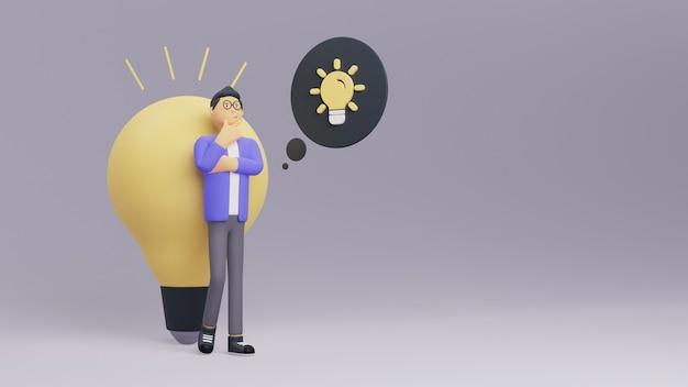 Minimalistyczne renderowanie koncepcji myślenia