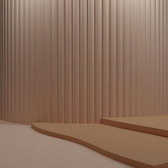 Minimalistyczne tło stojaka w kolorze beżowym