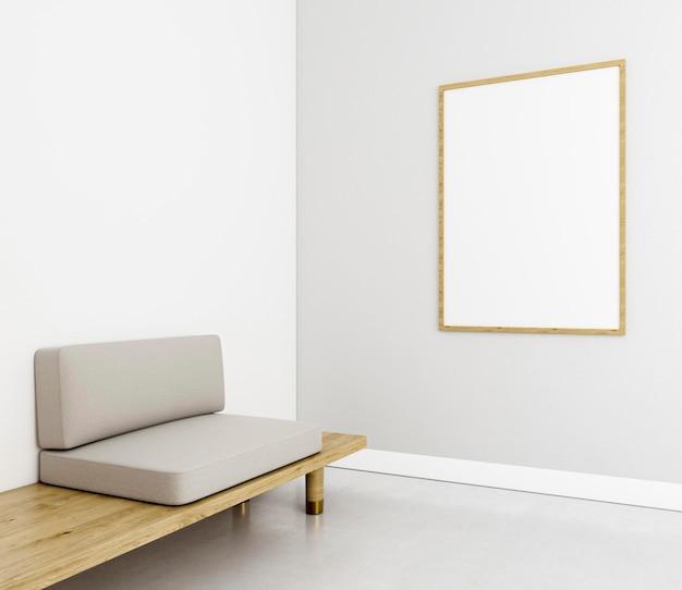 Minimalistyczne wnętrze z elegancką ramą