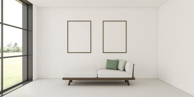 Minimalistyczne wnętrze z eleganckimi ramami