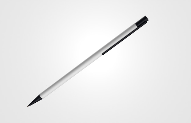 Minimalistyczny biało-czarny długopis 3d