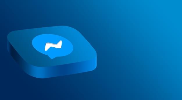 Minimalistyczny design logo messenger 3d