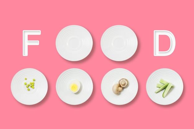 Minimalistyczny płaski układ zdrowej żywności