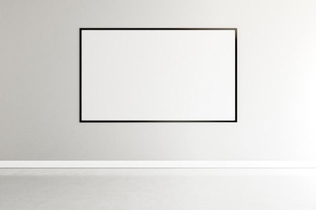 Minimalistyczny pokój z eleganckim wnętrzem ramowym