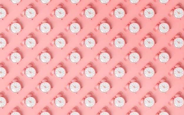 Minimalistyczny wzór z budzikiem