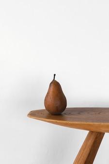 Minimalna koncepcja abstrakcyjna widok z przodu gruszka