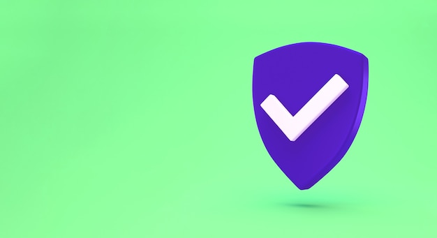 Minimalna koncepcja osłony ochronnej. ikona kontroli bezpieczeństwa.
