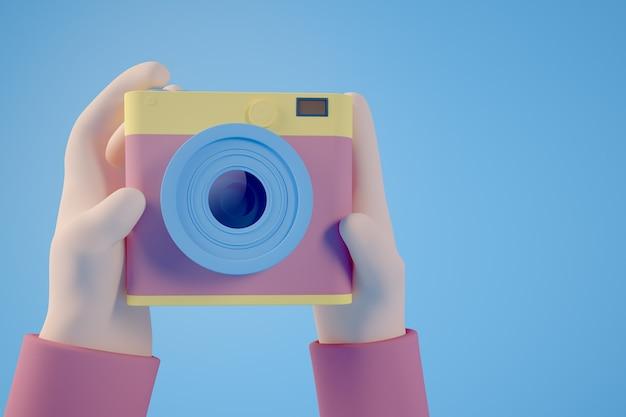 Minimalna koncepcja selfie zdjęcie