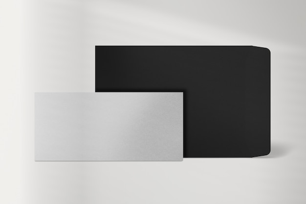 Minimalna papeteria papierowa z kopertą