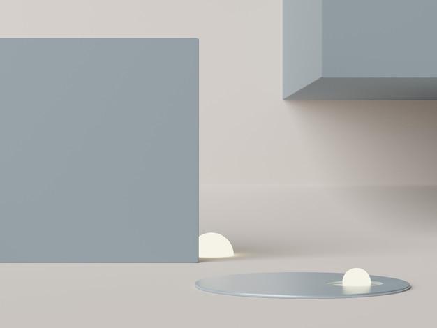 Minimalna scena podium dla produktów makiety z tłem w tonie ziemi.