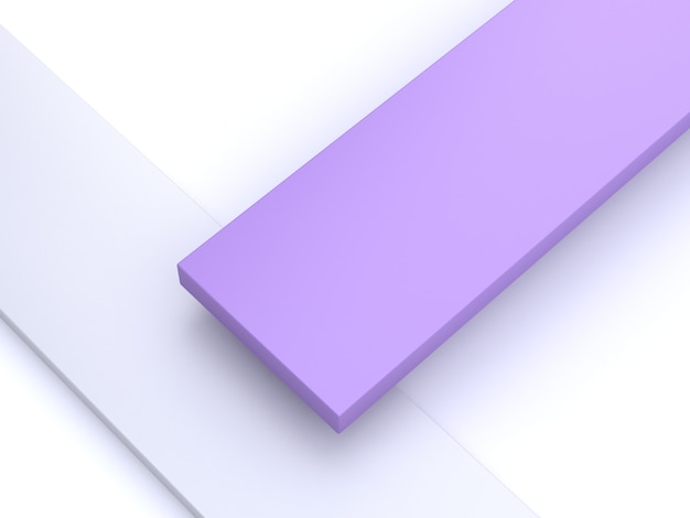 Minimalne 3d streszczenie powrót ziemi fioletowy, fioletowy kształt renderowania 3d