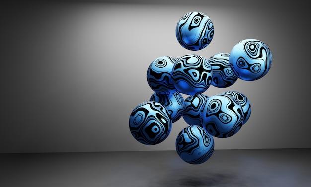 Minimalne abstrakcyjne tło kształtu geometrii, renderowania 3d