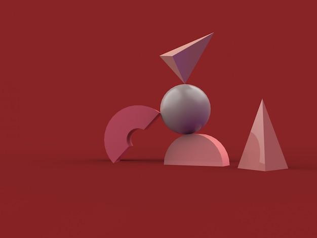 Minimalne abstrakcyjne tło renderowania 3d