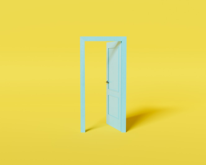 Minimalne drzwi koncepcyjne