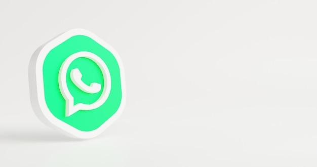 Minimalne logo na białym tle renderowania 3d