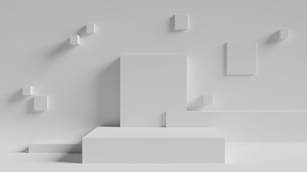 Minimalne renderowanie 3d geometryczne tło