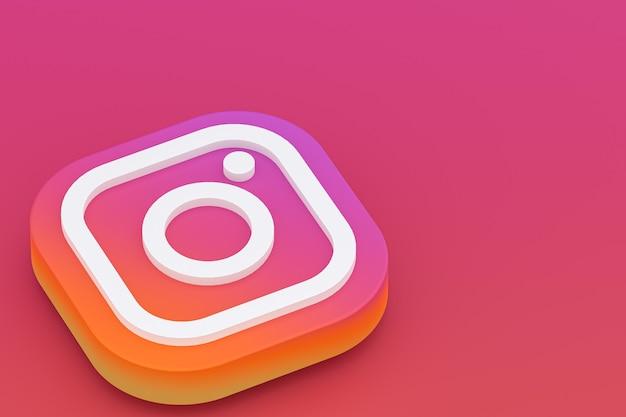 Minimalne renderowanie 3d logo instagram