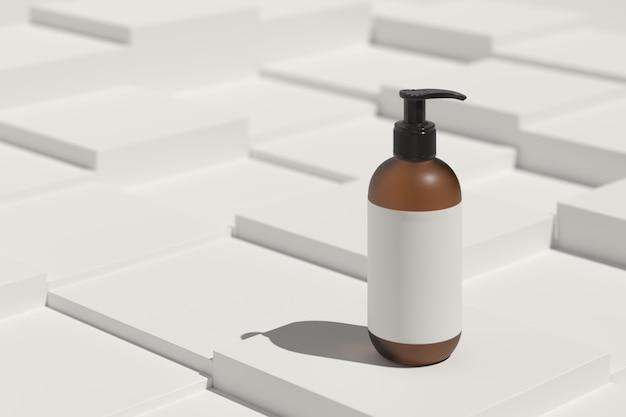 Minimalne tło, makieta sceny z podium do wyświetlania produktów. renderowanie 3d
