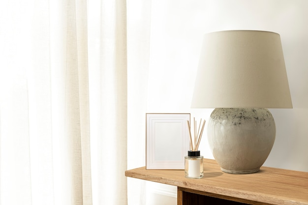 Minimalny biały salon, estetyczny design