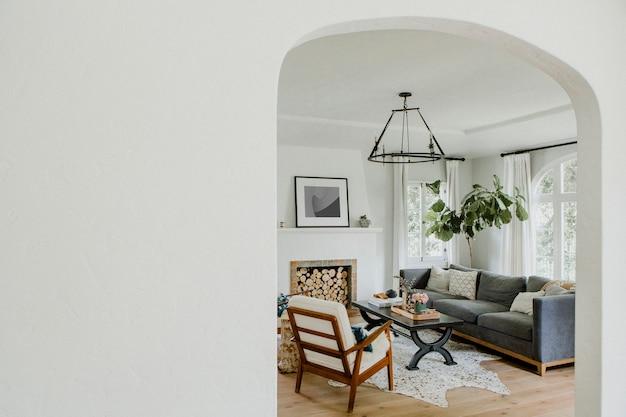 Minimalny estetyczny wystrój domu w domu