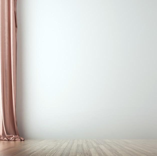 Minimalny przytulny wystrój wnętrz i meble o pustej fakturze pokoju i ścian