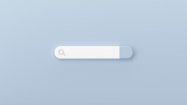 Minimalny pusty pasek wyszukiwania na szaro