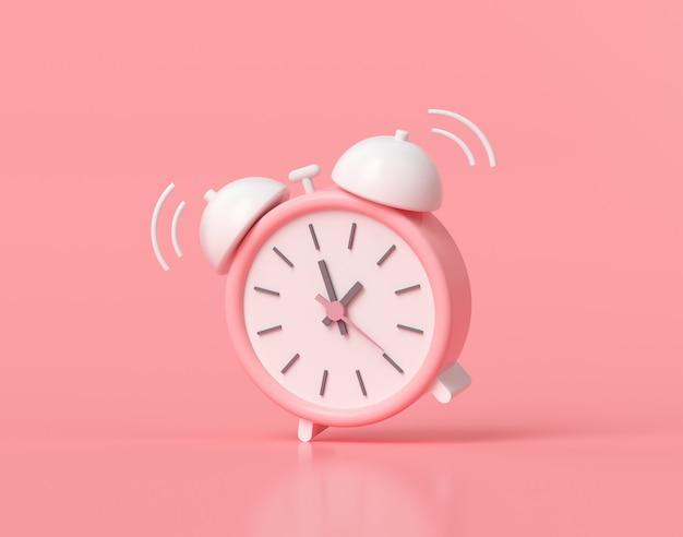 Minimalny różowy budzik