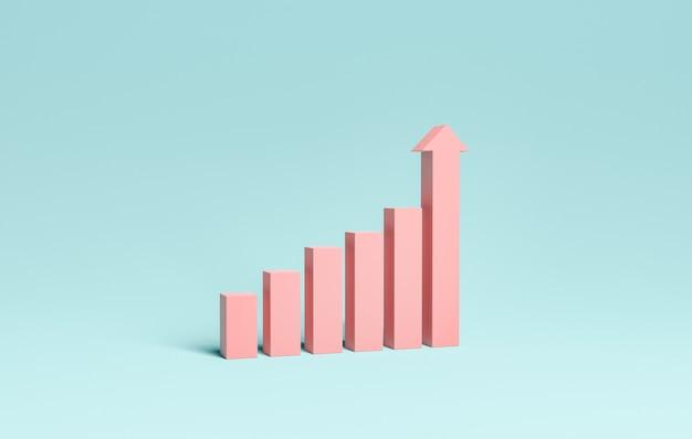 Minimalny wykres słupkowy wzrostu