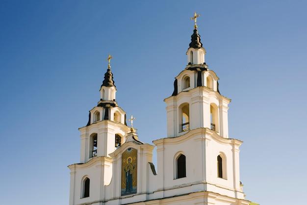 Mińsk, białoruś. październik 2019. święta katedra duchowości w mińsku