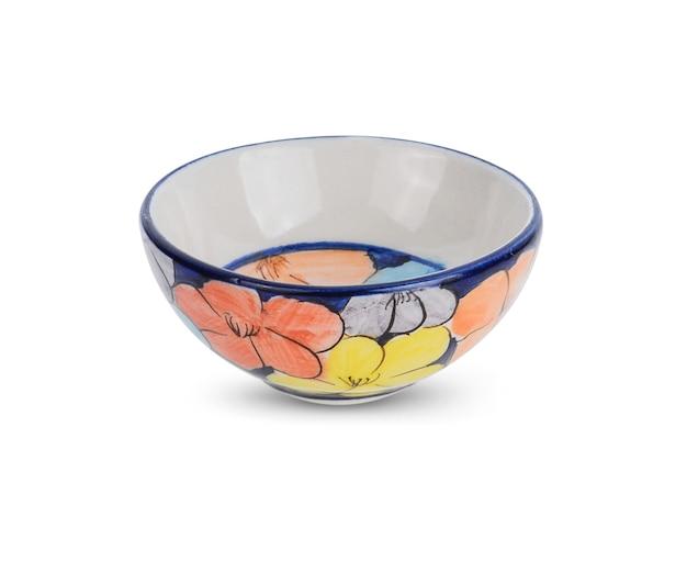 Miska ceramiczna na białym tle