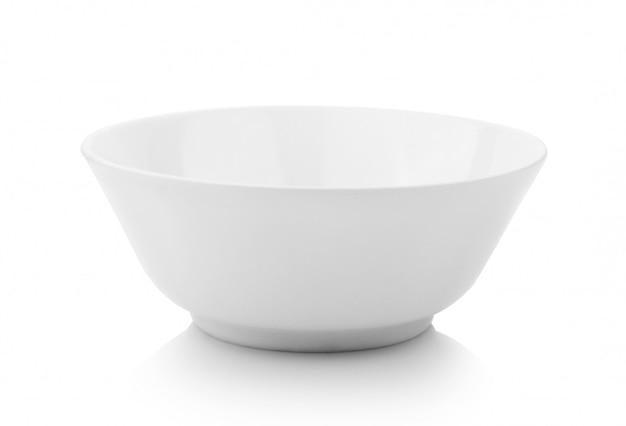 Miska na białym tle
