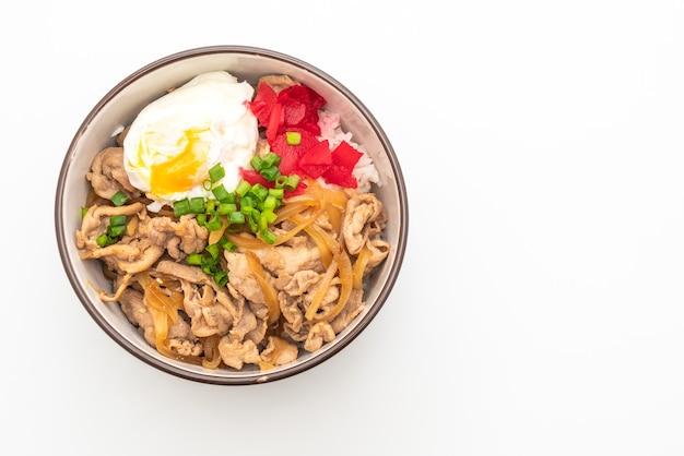 Miska ryżu wieprzowego z jajkiem (donburi) - po japońsku