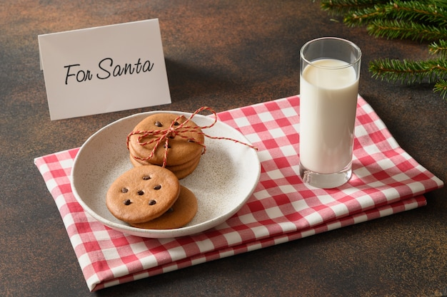 Mleko na mikołajki i ciasteczka
