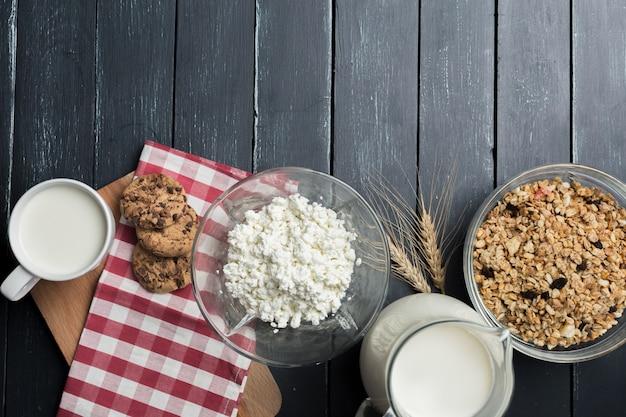 Mleko, twaróg - produkty mleczne